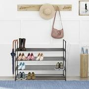 "Yescom 4 Tier Shoe Rack Shelf 20 Pairs 35 7/16"" x 11 5/8"" x 29 1/2"" Storage Organizer Metal Holder Stand Entryway"