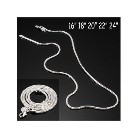 925 Sterling Silver Snake Chain Necklace 3MM 16