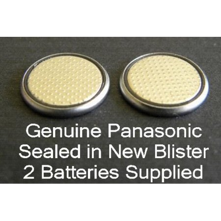 Two (2) X Panasonic Cr2025 Lithium Coin Cell Battery 3V Blister Packed