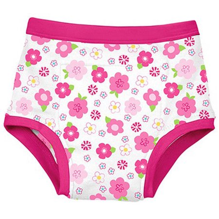 green sprouts Reusable Absorbent Training Underwear, Hot Pink Floral, 4T