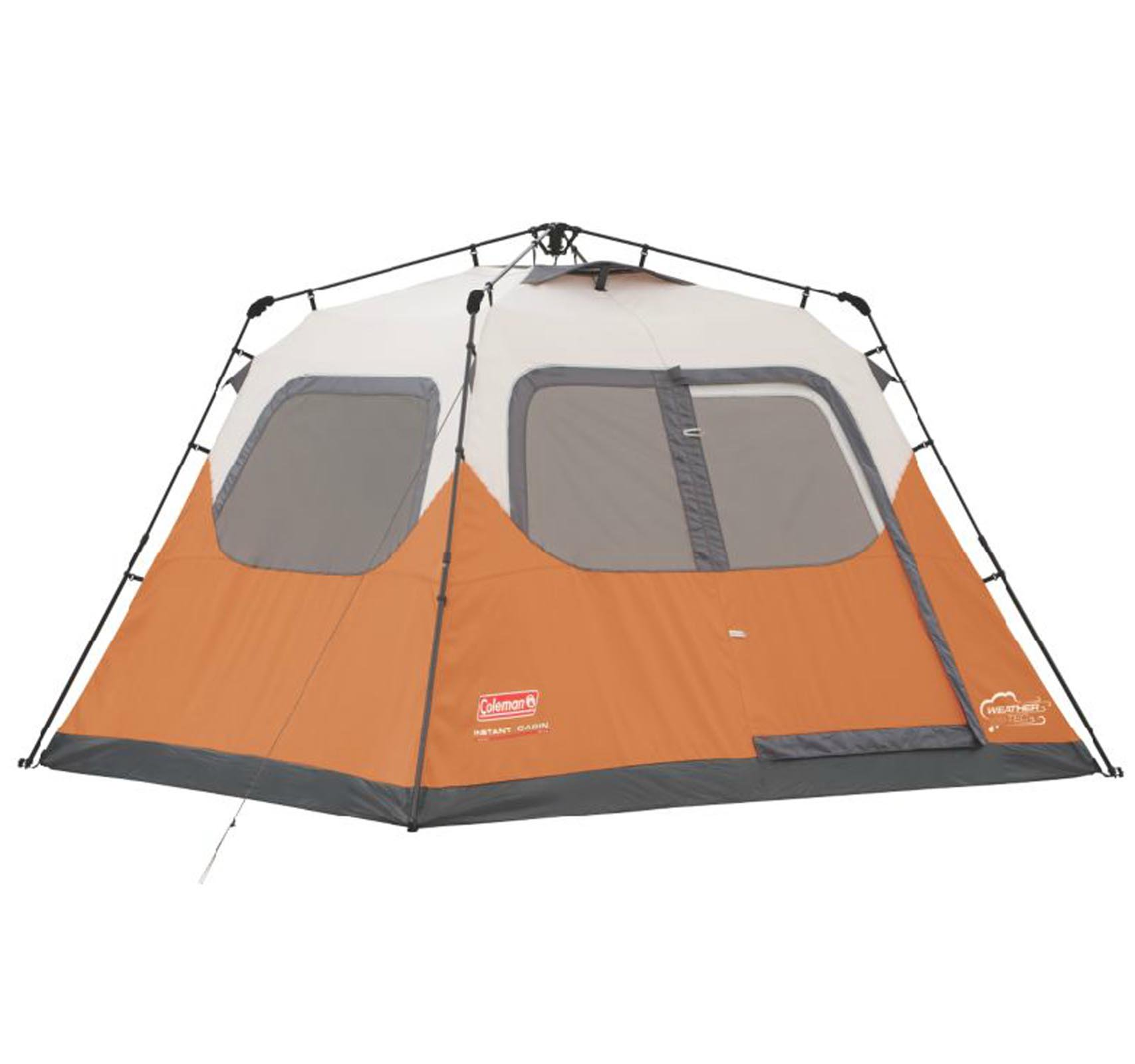 Coleman Outdoor 6 Person 10' x 9' Easy Set Up Family Camping Instant Pop Up Tent by COLEMAN