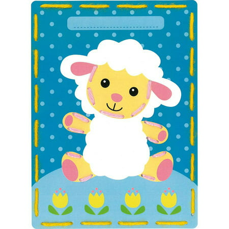 Cow 2 Embroidery (Kits 4 Kids Lamb and Cow Embroidery Cards Kit, 7.25