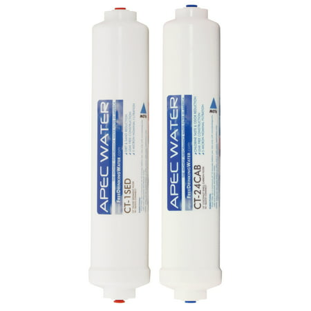 APEC FILTER-SET-CTOP Replacement Filter Set for ULTIMATE Series Countertop Reverse Osmosis Water Filter System Stage 1&2 Countertop Double Stage Filter