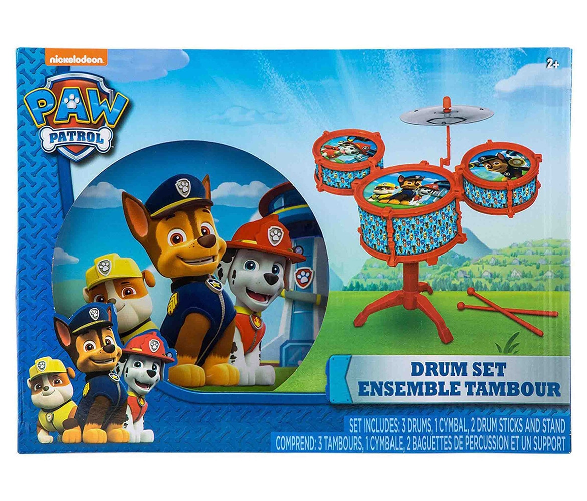 Novelty Character Musical Instruments Nickelodeon Paw Patrol Drum Set (7pc Set) by Nickelodeon