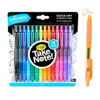 Crayola Take Note! Washable Gel Pen Set, 14 Count