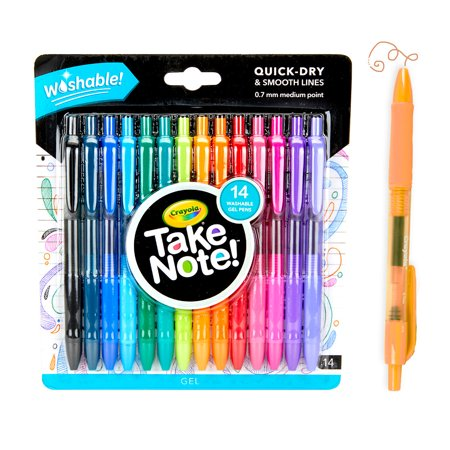 Crayola Take Note! Washable Gel Pen Set, 14 Count