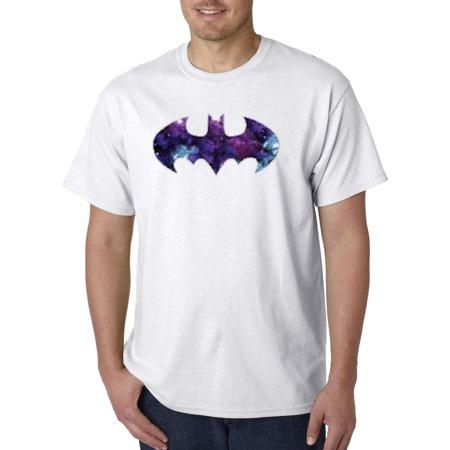 Blue And Grey Batman (631 - Unisex T-Shirt Batman Dark Knight Galaxy Logo)