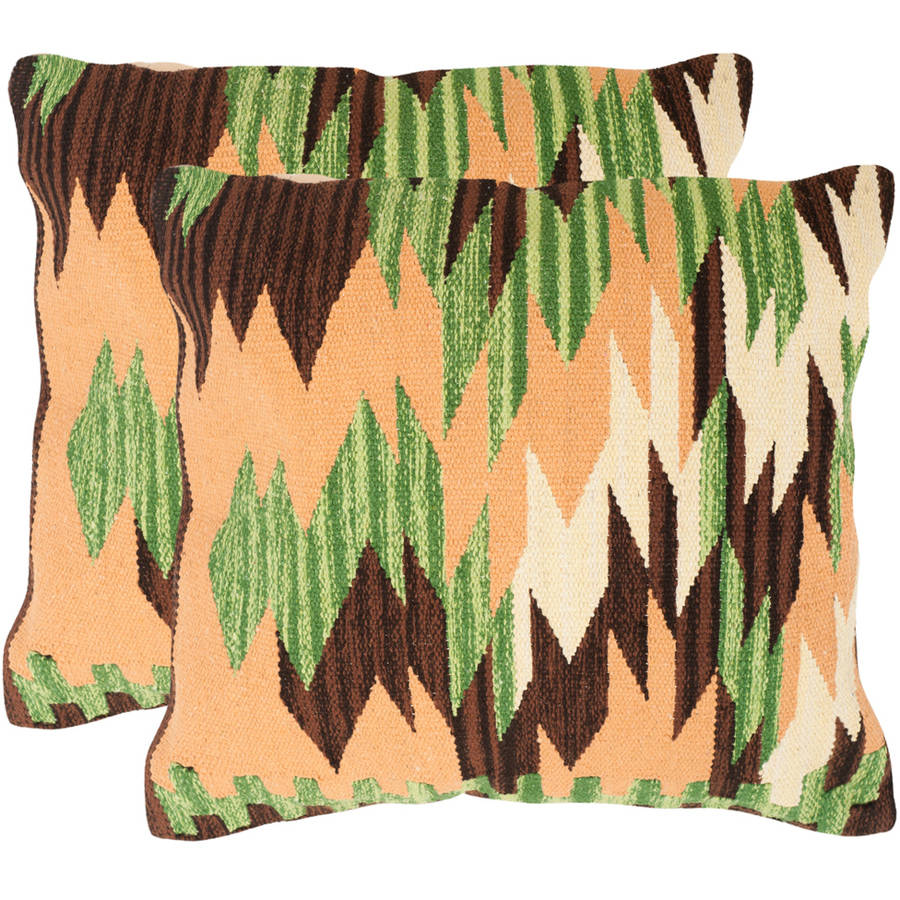 "Safavieh Canyon 20"" x 20"" Forest Neutral Pillow, Set of 2"