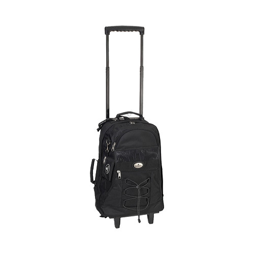 Everest Deluxe Wheel Backpack with Side Mesh Pocket 7045WH