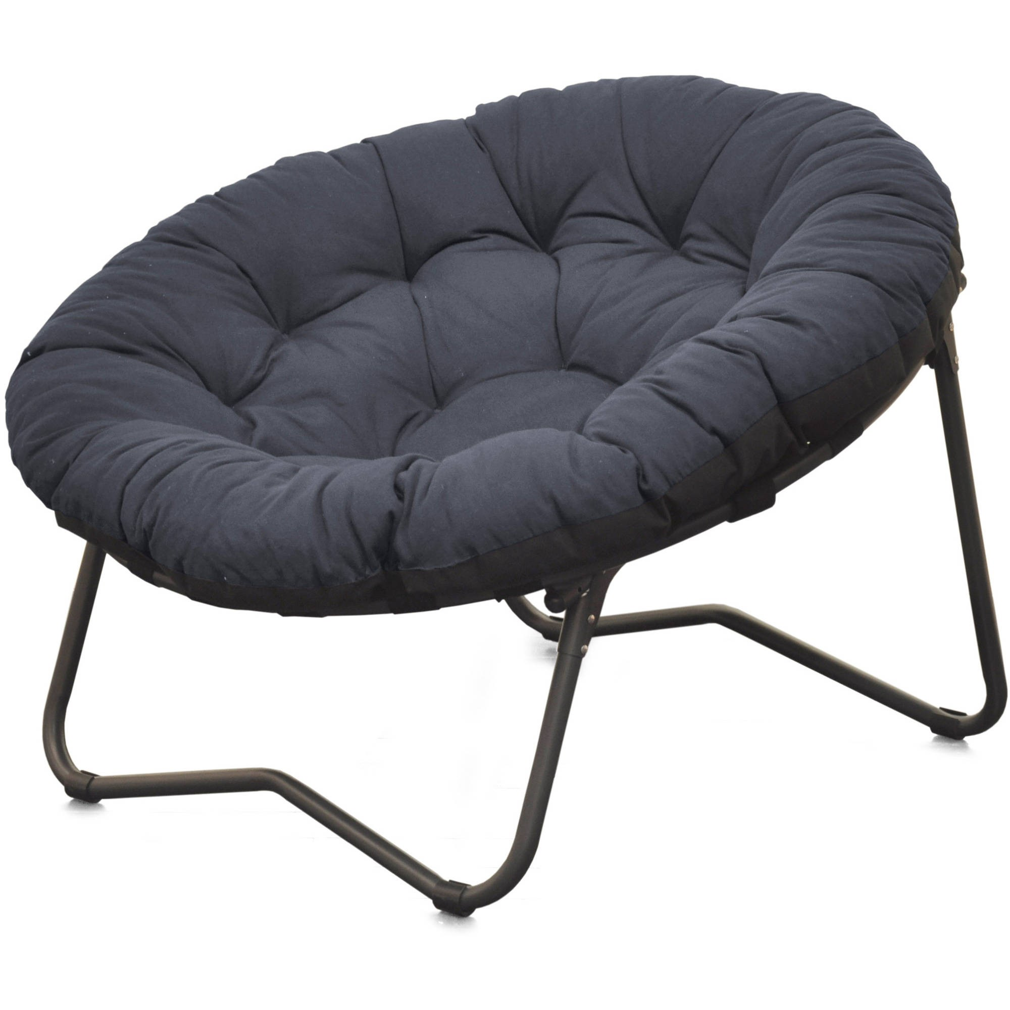 Genial Mainstays Folding Papasan Chair, Navy