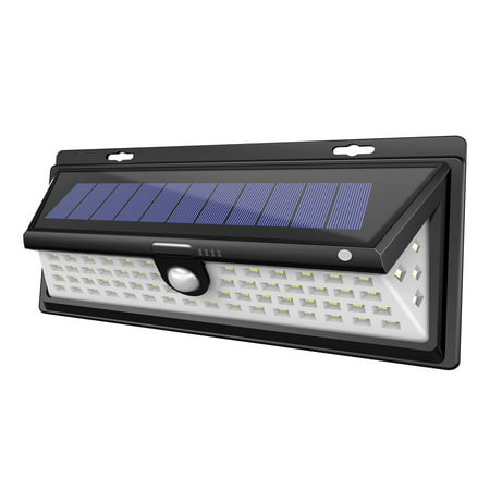 Solar LED Lights, Outdoor Motion Sensor Light Wall Mount 66 LEDs Garden Landscape Spotlight Auto ON/OFF Dusk to Dawn Nightlight Security Lighting for Garage Driveway Patio