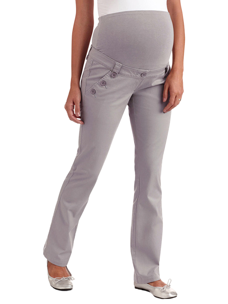 Casual Maternity Pants For Women Long High Waist Side Pockets