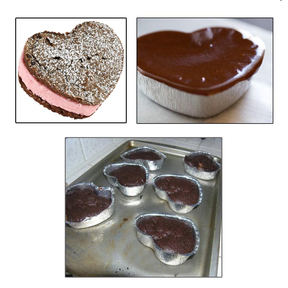 24 Aluminum Foil Baking Cups Heart Shapes Mold Cupcakes Party Baking Bake Mini