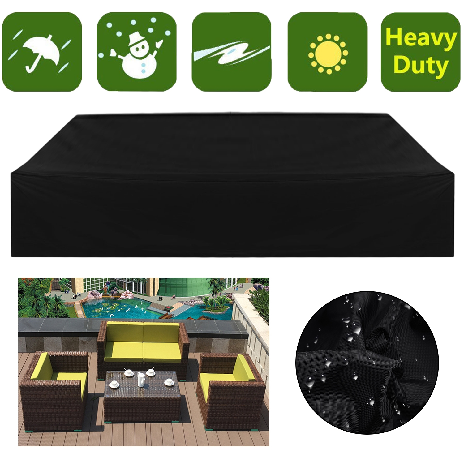 breathable garden furniture covers. CNMODLE Outdoor Furniture Rain Cover Patio Garden Wicker Sofa Set Dustcoat  Breathable Protective Accessories Breathable Garden Furniture Covers T
