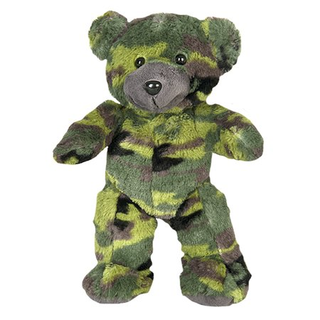 Cuddly Soft 8 inch Stuffed Camo Teddy Bear - We stuff 'em...you love 'em! Graduation Soft Bear