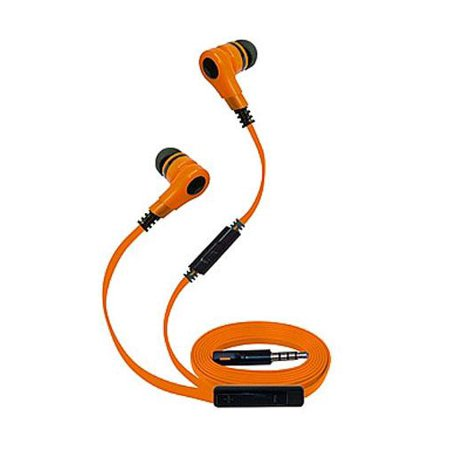 Super High Clarity 3.5mm Stereo Earbuds/ Headphone for Sharp Aquos Xx,Z3, Crystal 2, Crystal, MS1 (Orange) - w/ Mic & Volume Control + MND