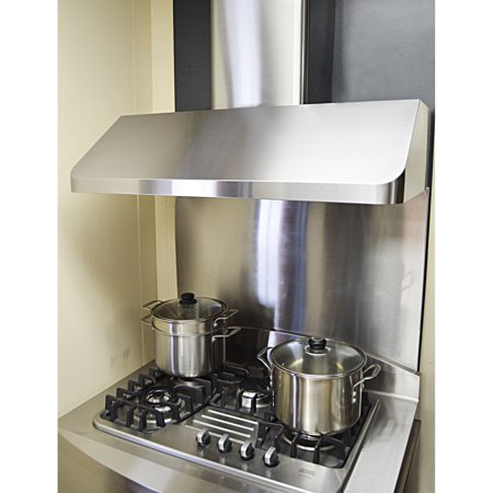 KOBE CHX9136SQB-WM-1 Brillia 36-inch Wall Mount Range Hood, 3-Speed, 680 CFM, Fits Ceiling Height