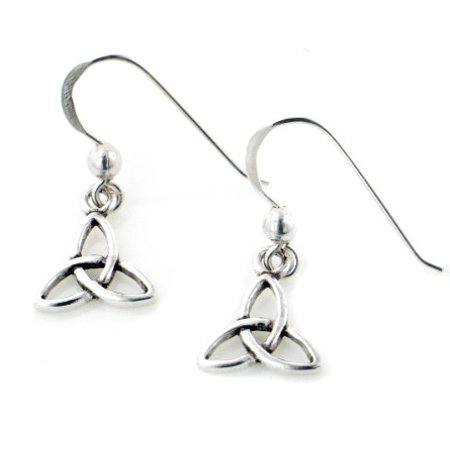 Trinity Knot Earrings (Small Celtic Trinity Knot Symbol Sterling Silver Hook)