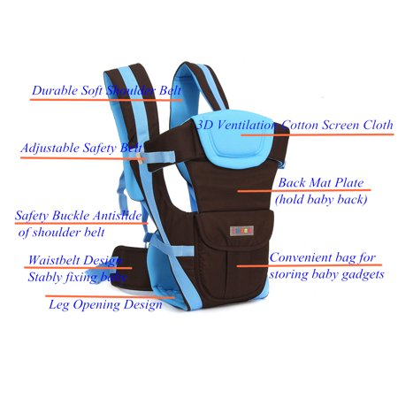 Lightweight All Carry Positions 4-Positions, 360° Ergonomic All Season Baby & Child Infant Toddler Newborn Carrier Backpack Front Back Wrap Rider Sling Soft & Breathable Cotton - image 9 of 13