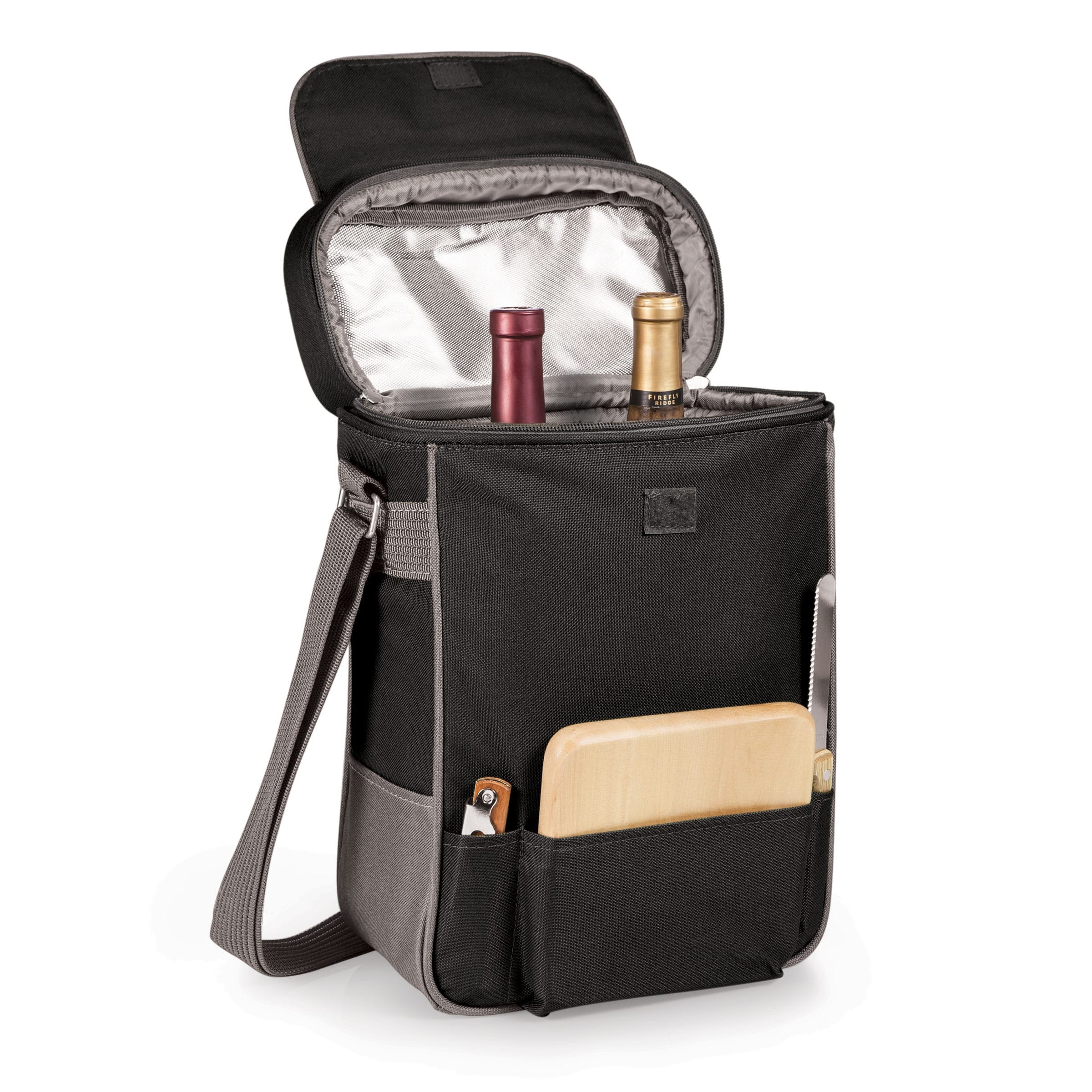 Legacy Picnic Time 'Duet' Black/ Grey Wine and Cheese Tote