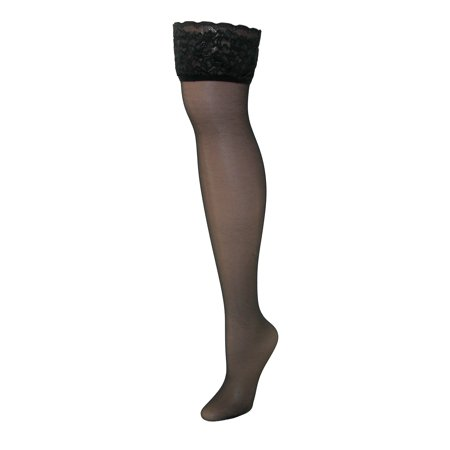 9d0359885f1 Hanes - Hanes Silk Reflections Lace Top Thigh Highs - Walmart.com