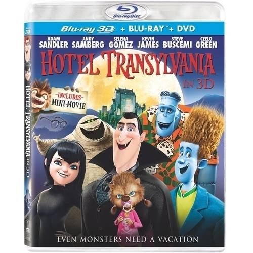Hotel Transylvania (3D Blu-ray + DVD + Digital Copy) (With INSTAWATCH) (Widescreen)