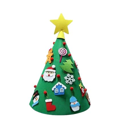 3D DIY Felt Christmas Tree Upgraded Toddler Christmas Tree Xmas Gifts for Kids Xmas Decoration - Diy Christmas Gifts For Kids