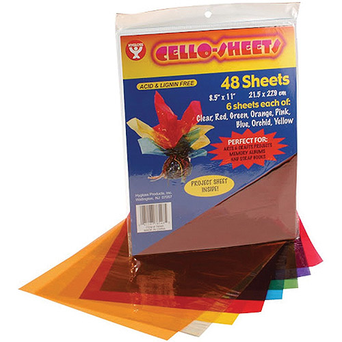 Hygloss Products Cello Sheets, 48/pkg, 6 Each Of 8 Colors