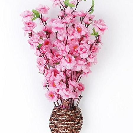 Cherry Blossom Bouquets (Artificial Spring Peach Blossom Cherry Plum Bouquet Branch Silk Flower)