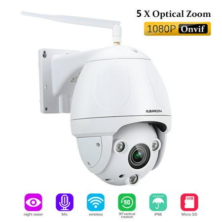 Amcrest ProHD Fixed Outdoor 4-Megapixel (2688 x 1520P) Wi-Fi Vandal Dome IP Security Camera - IP67 Weatherproof, IK10 Vandal-Proof, 4MP (2688 x 1520P), IP4M-1028W (White)