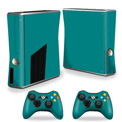 Mightyskins Protective Vinyl Skin Decal Cover for Microsoft Xbox 360 S Slim + 2 Controller skins ()