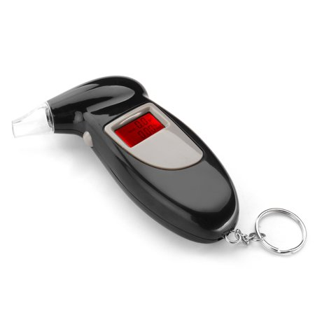 Breathalyzer Keychain Digital Alcohol Tester Detector Breath Analyzer Audible Alert Portable With Lcd Display And Replacement Mouthpiece Personal Use