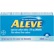 2 Pack - Aleve Pain Reliever/Fever Reducer Tablets, 100 ea