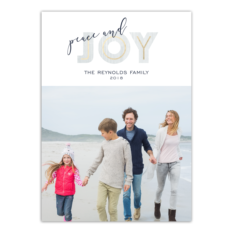 Personalized Holiday Photo Card - Modern Joy
