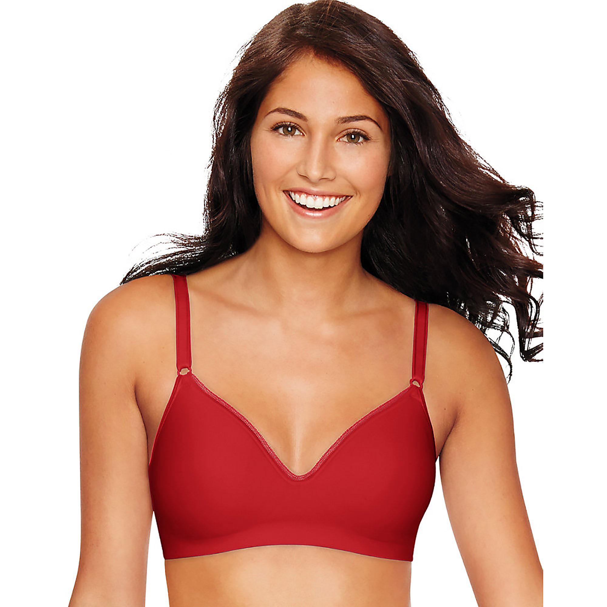 Hanes Womens Smooth Inside and Out Foam Wirefree Bra, Style HU05