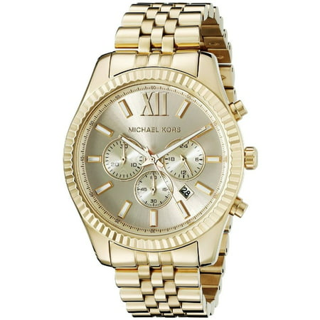 - Men's Lexington Gold-Tone Chronograph Watch, MK8281