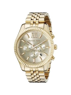 283399b7182d Product Image Men's Lexington Gold-Tone Chronograph Watch, MK8281. Michael  Kors