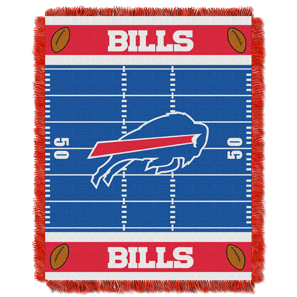 "Buffalo Bills NFL Triple Woven Jacquard Throw (Field Baby Series) (36""x48"")"