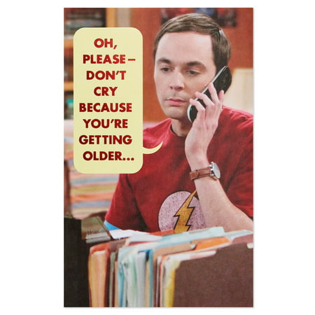 American Greetings Funny The Big Bang Theory Sheldon Birthday Card With Foil