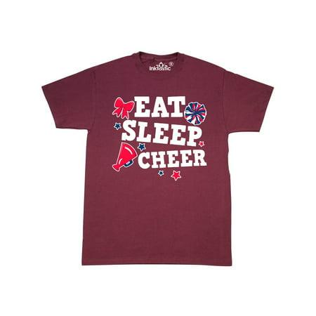 Cheerleading Eat Sleep Cheer White T-Shirt (Cheap Cheer Shirts)