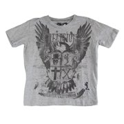 RELIGION Boy's Printed Short Sleeve Shirt 8-9 Years Grey