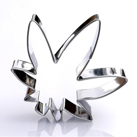 Marijuana Leaf Cookie Cutter  Stainless Steel