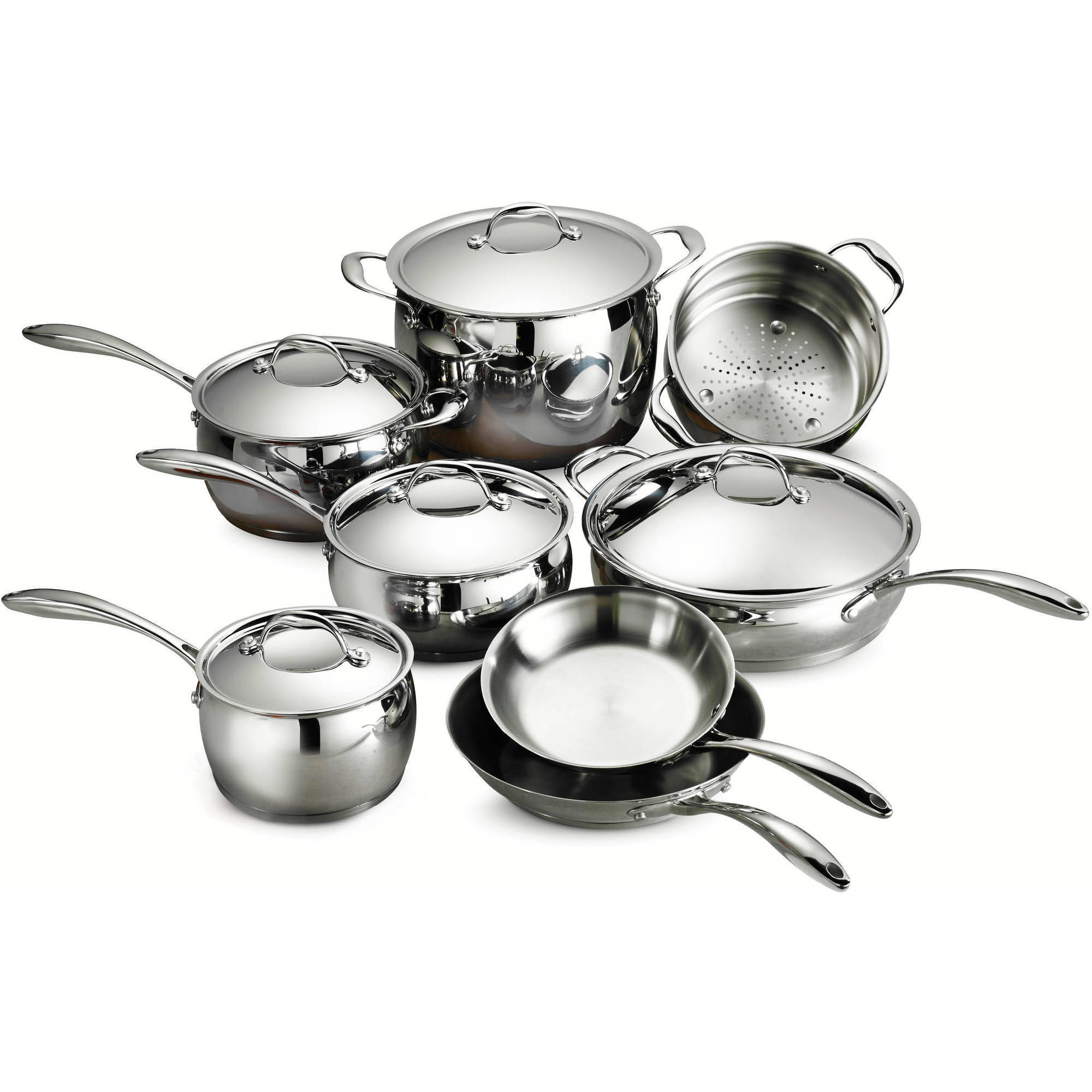 Tramontina Gourmet Domus Stainless Steel 13-Piece Cookware Set