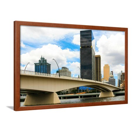 Brisbane River and City Framed Print Wall Art By kraskoffphotos