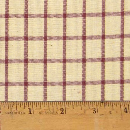 Rustic Red 6 Homespun Cotton Fabric - Sold by the Yard - JCS Fabric ()