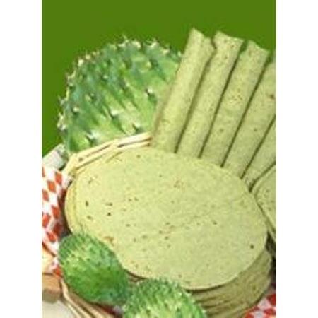 Tortillas De Nopal the Healthy non GMO corn kernels Green Cactus Tortilla 4 (Non Gmo Corn)