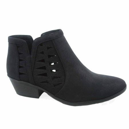 Chance-s Women's Fashion Zip Chunky Low Heel Ankle Booties Shoes ()