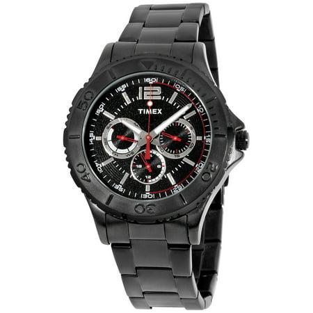 Men's Taft Street Multifunction Watch, Black Stainless Steel Bracelet - Mens Multifunction Bracelet Watch