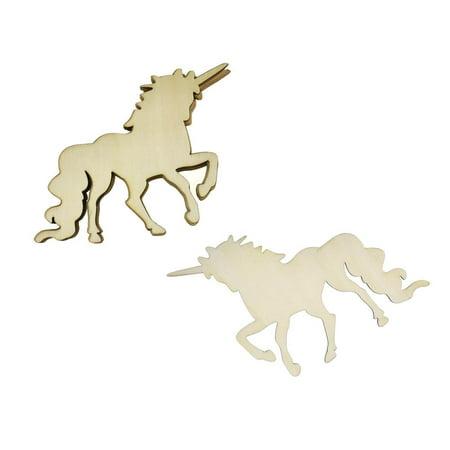 Magical Unicorn Wooden Cut-Outs, 3-1/2-Inch, - Unicorn Cutout