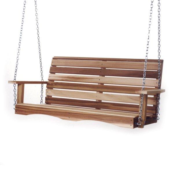 All Things Cedar 4 Porch Swing, Patio Swing Springs